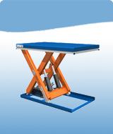 подъемный стол с одинарными ножницами